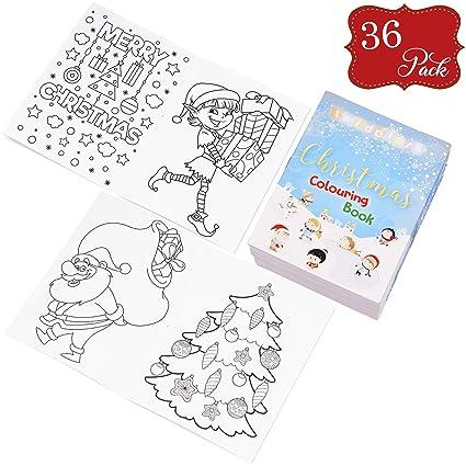 36 Mini libros Navideños para colorear - Ideales para rellenar medias, bolsas de fiesta, regalos y premios para niños