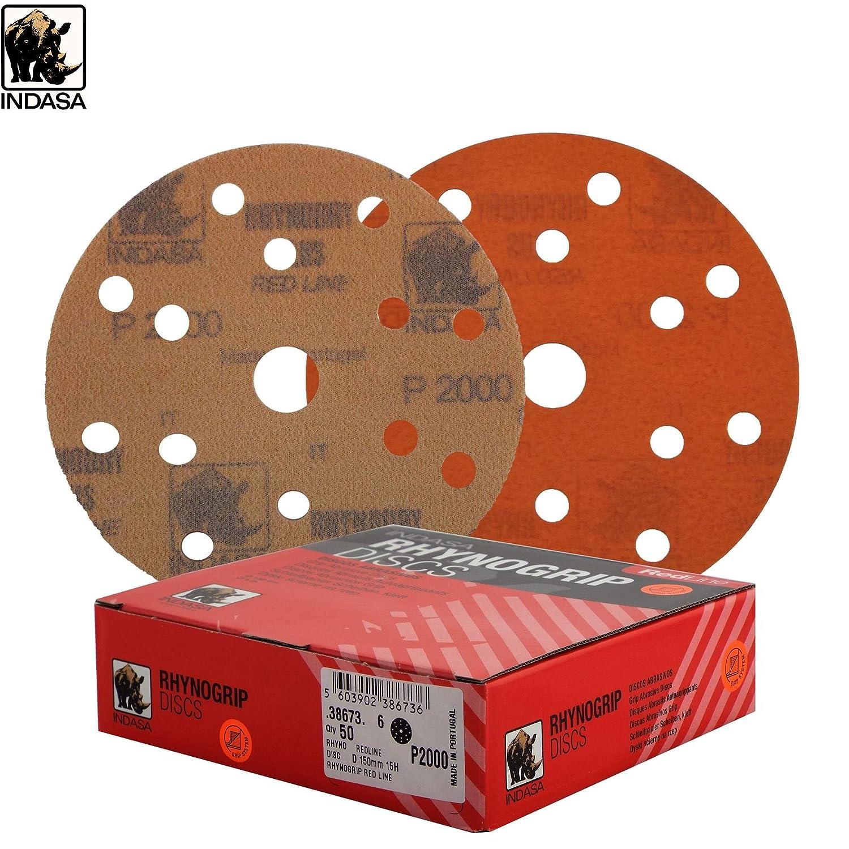 "Indasa Autogloss Mop White Hard Dry Use Foam Pads Box Of 2 150mm 6/"" Grip System"