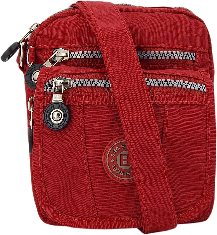 ekavale kleine Umhängetasche Damentasche aus hochwertigem wasserabwesendem Nylon Schultertasche (Rot): Amazon.de: Koffer - Handtasche klein