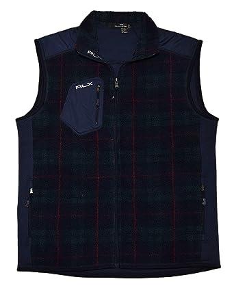 6279e61ec Image Unavailable. Image not available for. Color  Ralph Lauren Polo RLX  Mens Fleece Full Zip Jacket Coat Blue Green ...