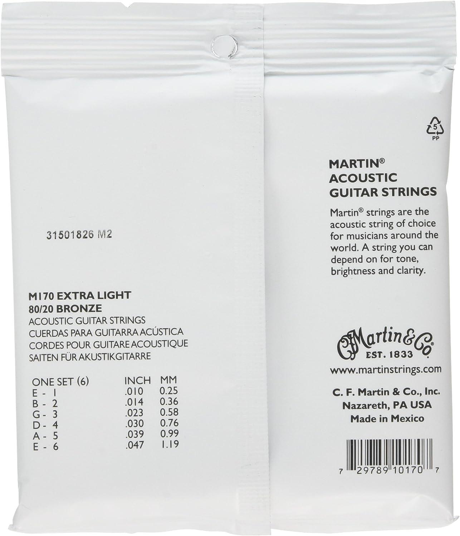 M175 Martin 80-20 Bronze Custom Light Strings Acoustic Guitar Bridge Pins