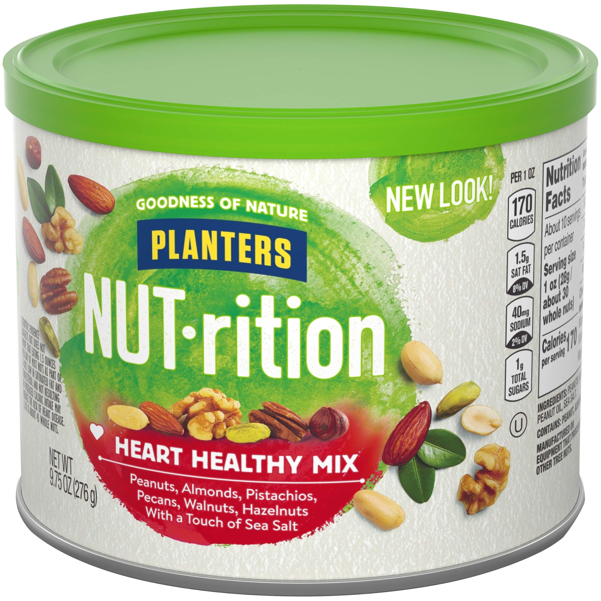 NUTrition Heart Healthy Snack Nut Mix (9.75oz, Pack of 3) by Planters (Image #8)