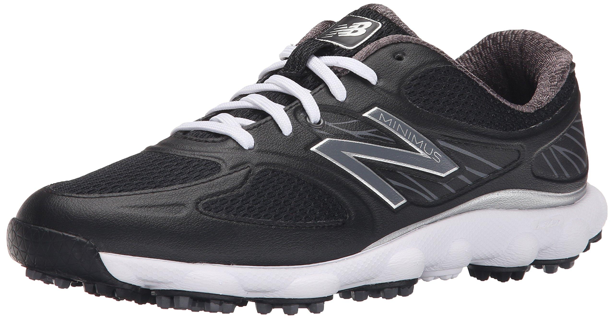 New Balance Women's Minimus Sport Spikeless Golf Shoe, Black, 7.5 B US