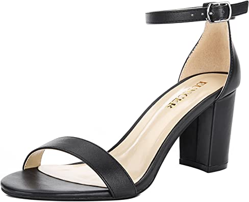 with Ankle Strap Block Heel Dress Shoes