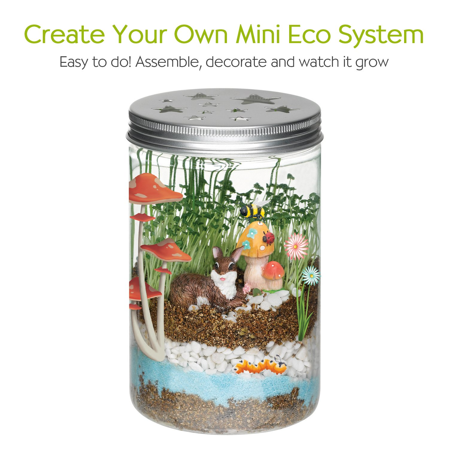 Creativity for Kids Grow 'n Glow Terrarium - Science Kit for Kids by Creativity for Kids (Image #3)