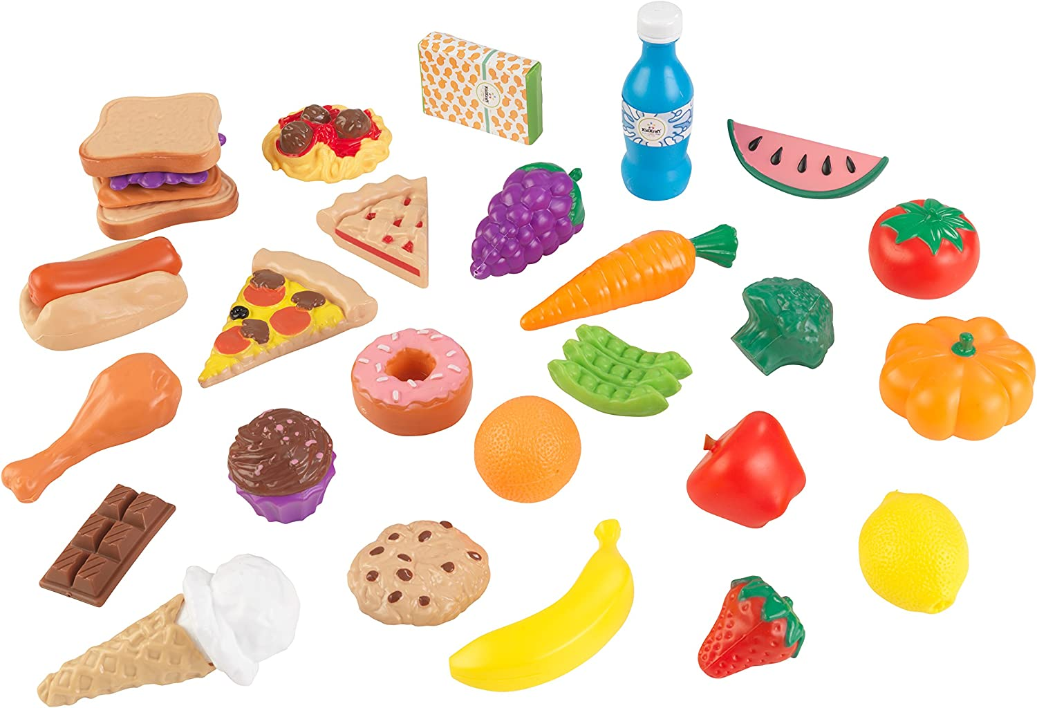 KidKraft 30Pc Pretend Play Food Set Playset