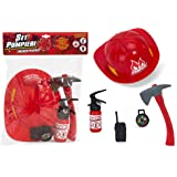 Vococal - 5 Pezzi Bambini Fireman Vigile del Fuoco Giocattoli ... 5d4009aaffc8