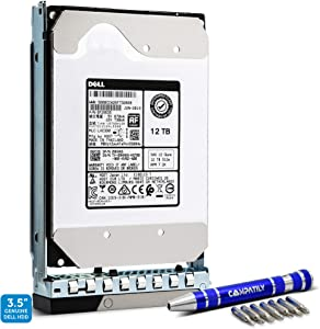 "Dell 401-ABHX 12TB 7.2K NL-SAS 12Gb/s 3.5"" Hard Drive in 14G Hot-Plug HDD Tray Bundle with Compatily Screwdriver 