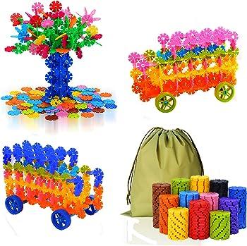 QuadPro Brain Flakes 570-Pc. w/4-Set Wheels Building Blocks Set