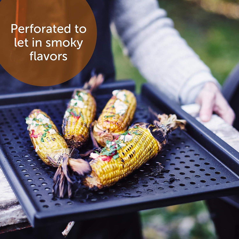 17 BK Black Carbon Steel BBQ Grill Tray CC002837-001