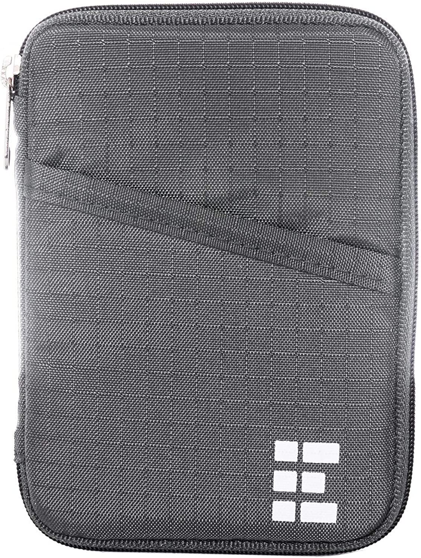 Zero Grid Passport Wallet - Travel Document Holder w/RFID Blocking