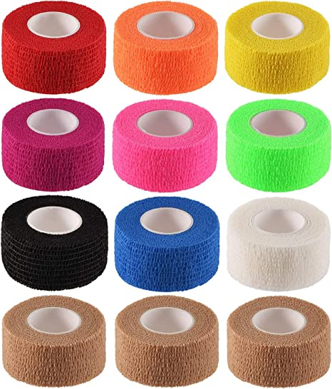 Amazon Com Cherish Tea 12 Pack 1 X 5 Yards Self Adhesive Elastic Bandage Wrap Stretch Self Adherent Tape For First