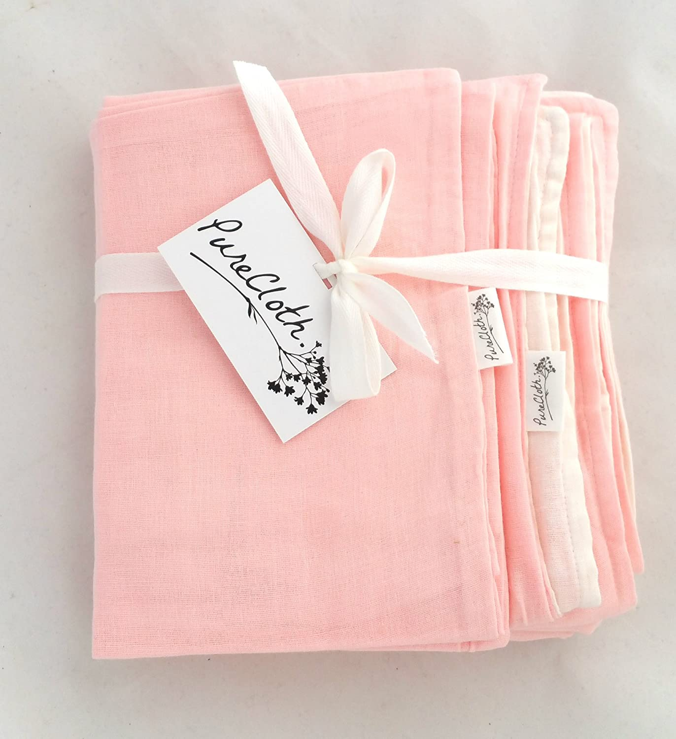 PureCloth Super Soft 2 Piece Set Cotton Baby Toddler Everything Blanket with Pillowcase for Travel, School, Crib, Stroller Light Pink