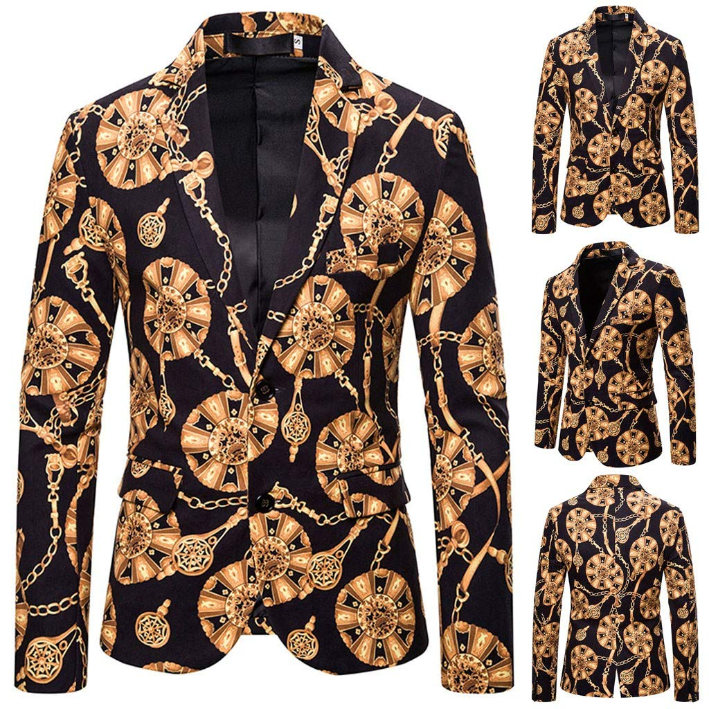Kstare Mens Xmas Sweater Costumes Jacket Party Funny Costume in Different Prints Blazer Tops Christmas Suit for Men