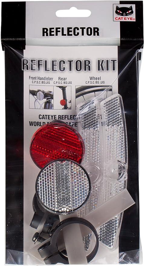 CATEYE BICYCLE BIKE REFLECTOR REFLECTER SET WHEEL HANDLEBAT SEATPOST NEW