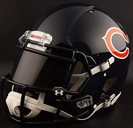 Image Unavailable. Image not available for. Color  Riddell Custom Chicago  Bears Full Size NFL Speed Football Helmet 7e26ba908