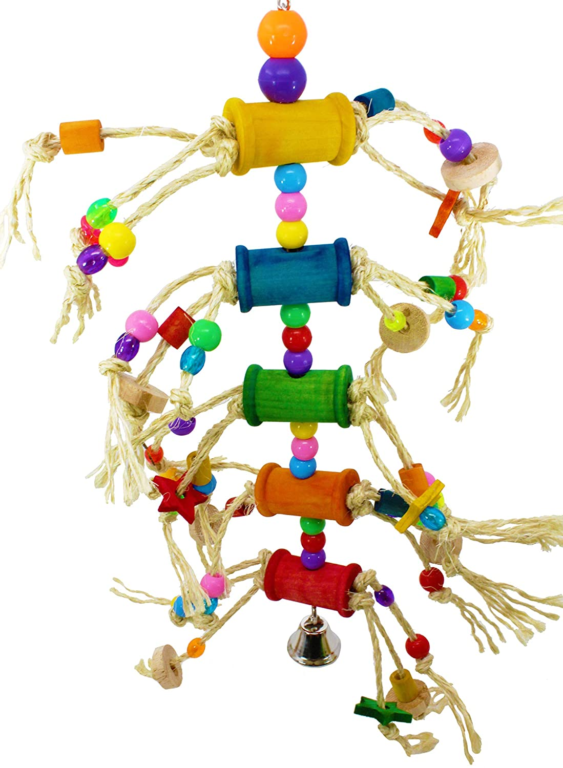 Bonka Bird Toys 1846 Pluck My Bobbins Bird Toy parrot cage toys cages african grey  conure