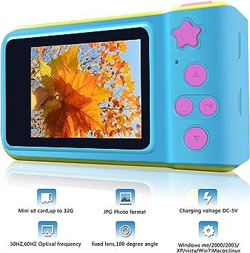 porpora Fotocamera digitale per bambini HD 1080P con fotocamera per bambini della carta di TF gratuita con fotocamera da 2 pollici con schermo giocattolo per ragazze Regali di compleanno per ragazze