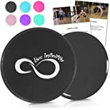 Live Infinitely Core Sliders – Dual Sided Fitness Sliders for Hardwood Or Carpeted Surfaces – Ideal for Ab & Core…