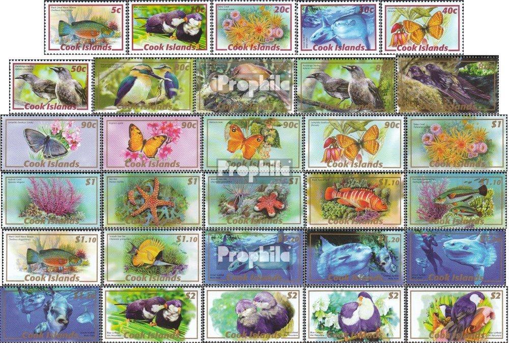 Prophila Collection Cookinseln 1565-1594 (kompl.Ausg.) 2007 Tiere des Südpazifiks (Briefmarken für Sammler) Wassertiere