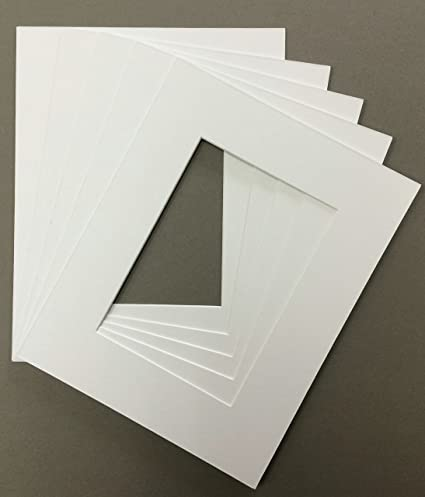 Amazon Com Pack Of 5 11x14 White Picture Mats Bevel Cut For 8x12 Pictures Arts Crafts Sewing