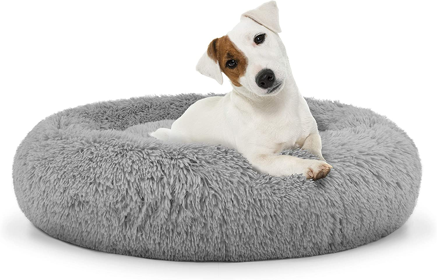 Boston Mall The Dog's Bed Sound Sleep Donut R Dog Med Grey Silver Plush High material