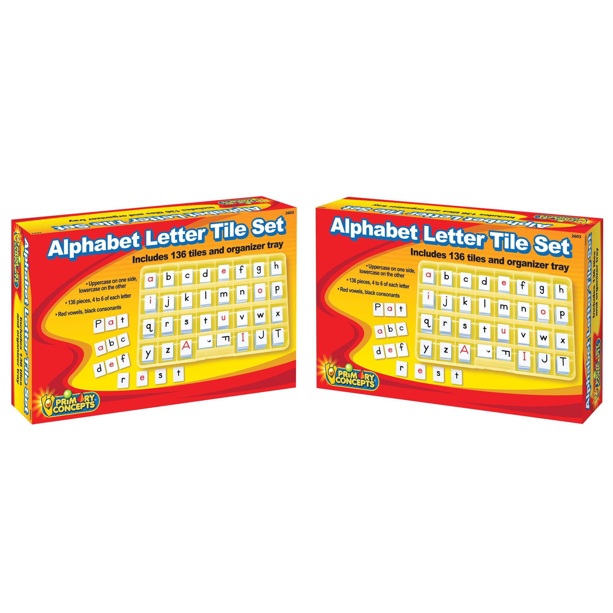 Primary Concepts, Inc Alphabet Letter Tile Set Learning Kit