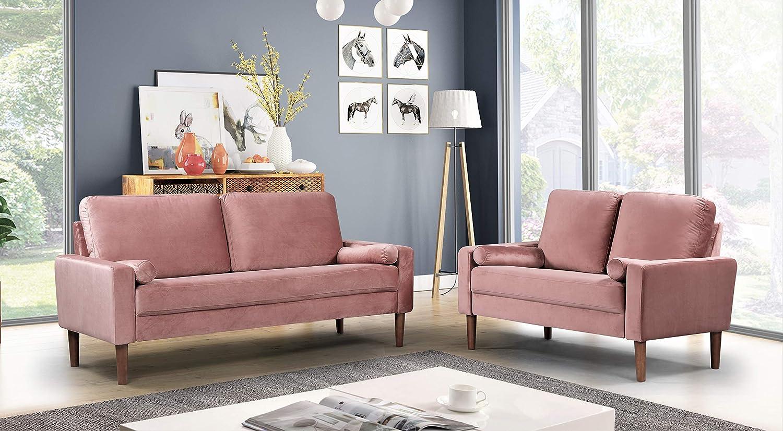 US Pride Furniture Sectional, Rose