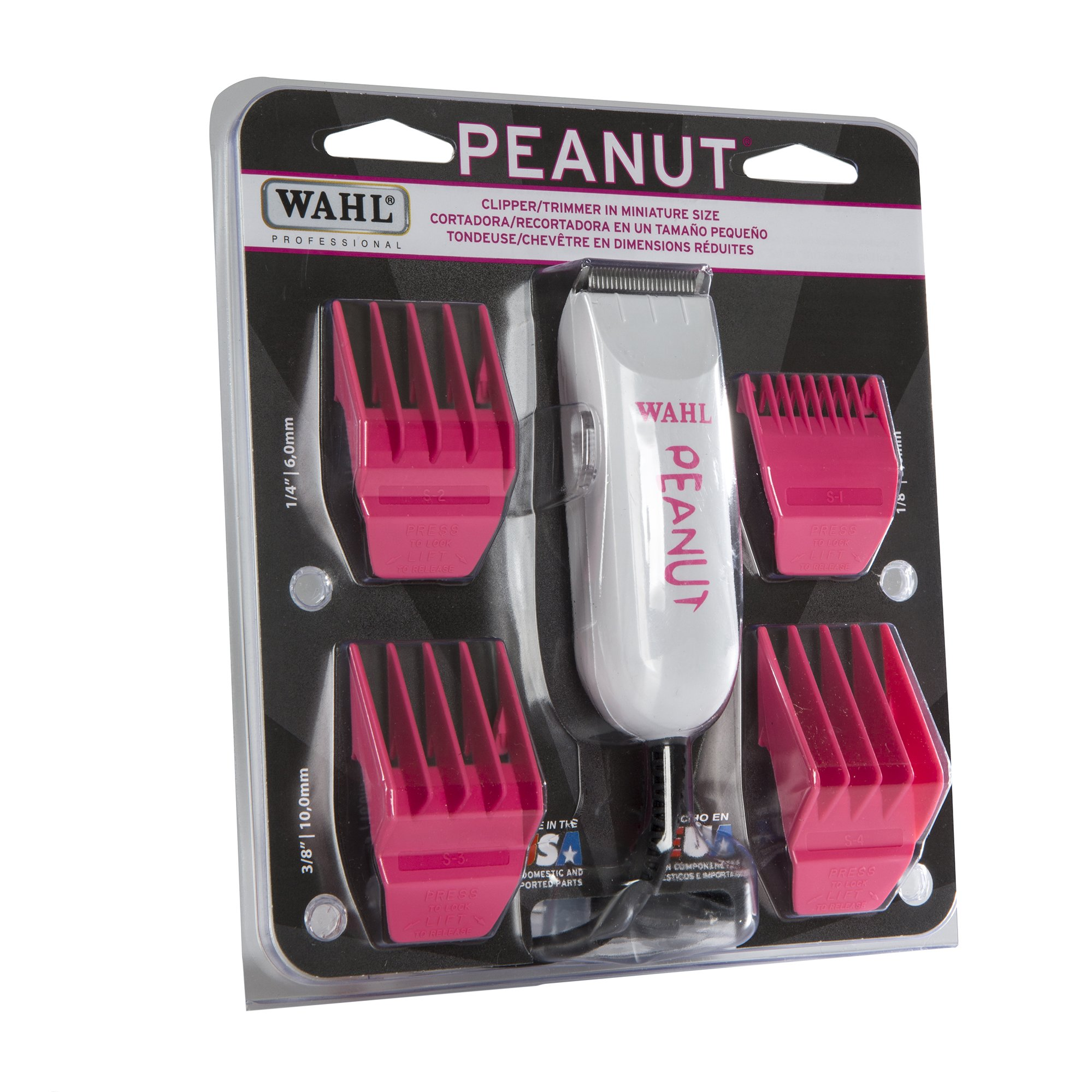 Wahl Professional Peanut Classic Clipper/Trimmer #8685-1701, Pink - Great for Barbers and Stylists - Powerful Rotary Motor