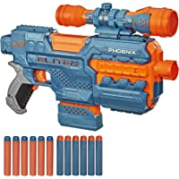 NERF Elite 2.0 Phoenix CS-6 Motorized Blaster, 12 Official Darts, 6-Dart Clip, Scope, Tactical Rails, Barrel and Stock…