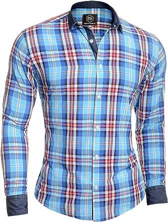D&R Fashion Camisa a Cuadros para Hombre Leñador Casual ...