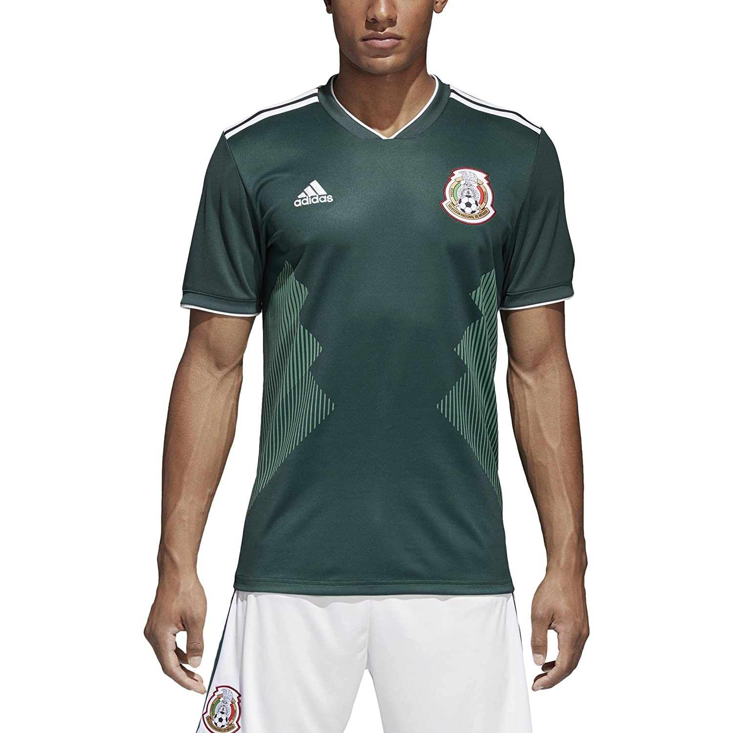 Amazon.com   adidas Mexico 2018 Home Replica Jersey   Sports   Outdoors 4e0ac58ec