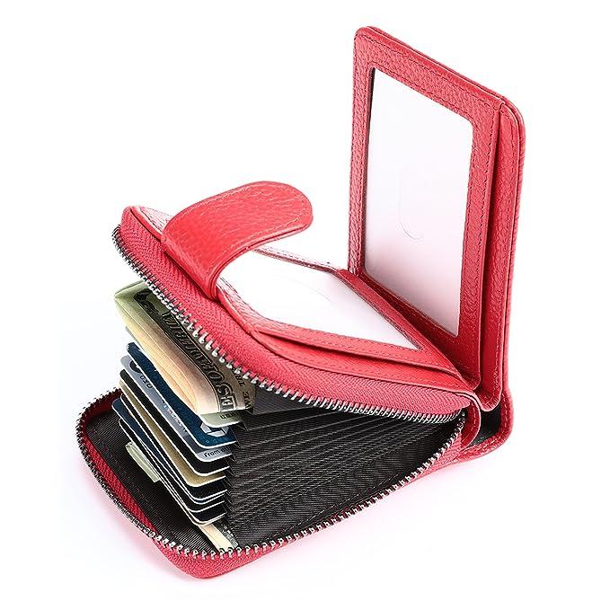 Amazon.com: YOOMALL - Mini cartera de piel auténtica con ...