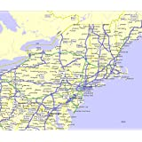 Us Map North East.Amazon Com Laminated Map Northeast Usa Wall Map Maps Com Usa