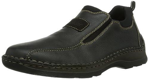 rieker Herren Slipper Schwarz Schuhe, Größe:43