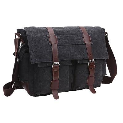 cbce3b88479 ZUOLUNDUO Vintage Messenger Bag Laptop Bag School Bag Canvas Bag new ...