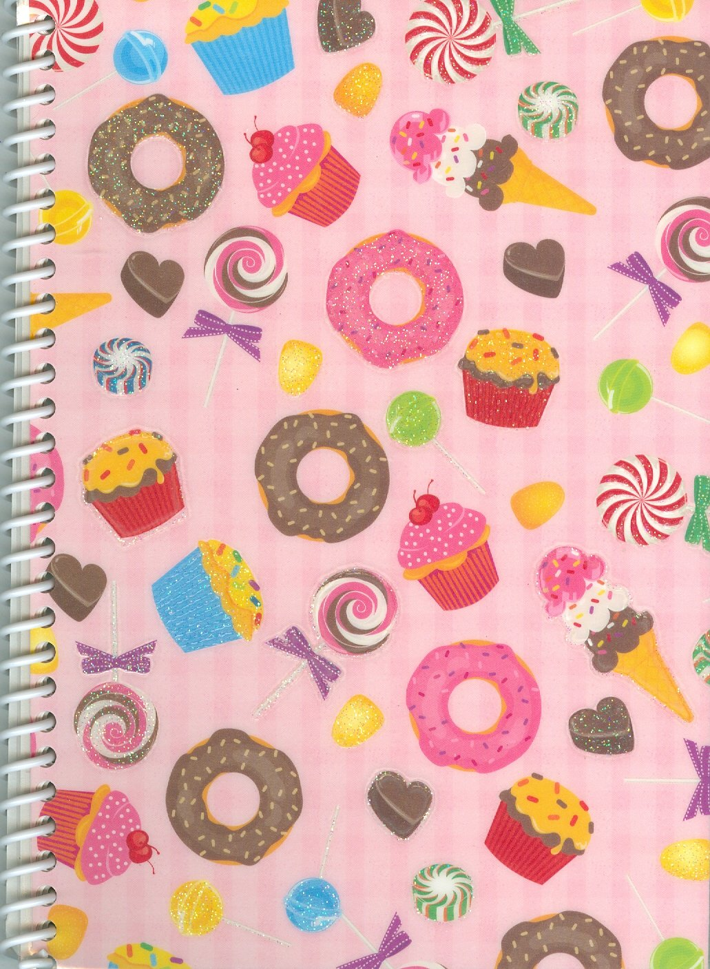 Cupcakes and Candy Sticker Collecting Album 5 x 7, Re-usable!