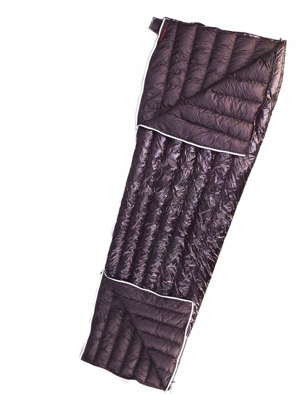 AEGISMAX UrltraLight Gänsedaunen-Schlafsack-Umschlag-Schlafsack für Rucksack mit Kompressions-Sack