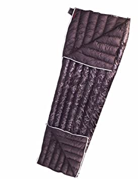 Bolsa de dormir ultraliviana AEGISMAX de pluma de ganso, con bolsa de compresión