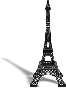 "allgala 24"" Eiffel Tower Statue Decor Alloy Metal, Black"