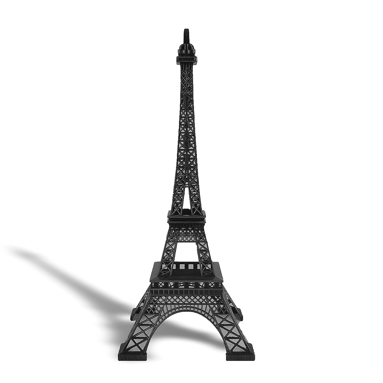 "allgala 15"" Eiffel Tower Statue Decor Alloy Metal, Black"