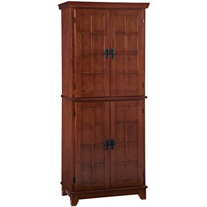 Charmant Home Styles Arts And Crafts Cottage Pantry Cabinet, Oak