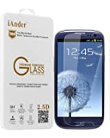 iAnder Premium Tempered Glass Screen Protector for Samsung Galaxy S3 - Screen Protector for Samsung Galaxy S3