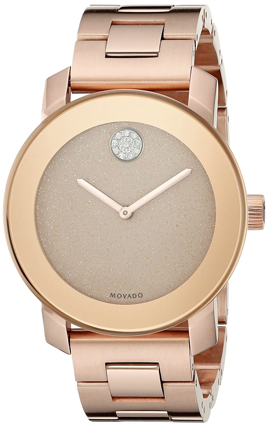 Movado Women s 3600335 Crystal-Accented Rose Gold-Tone Stainless Steel Watch