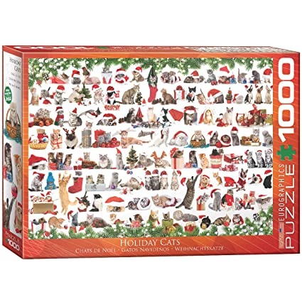 EuroGraphics Christmas Kittens Puzzle (1000 Pieces)