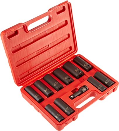 Sunex 2611 1//2-Inch Drive Extra Thin Wall Deep Impact Socket Set