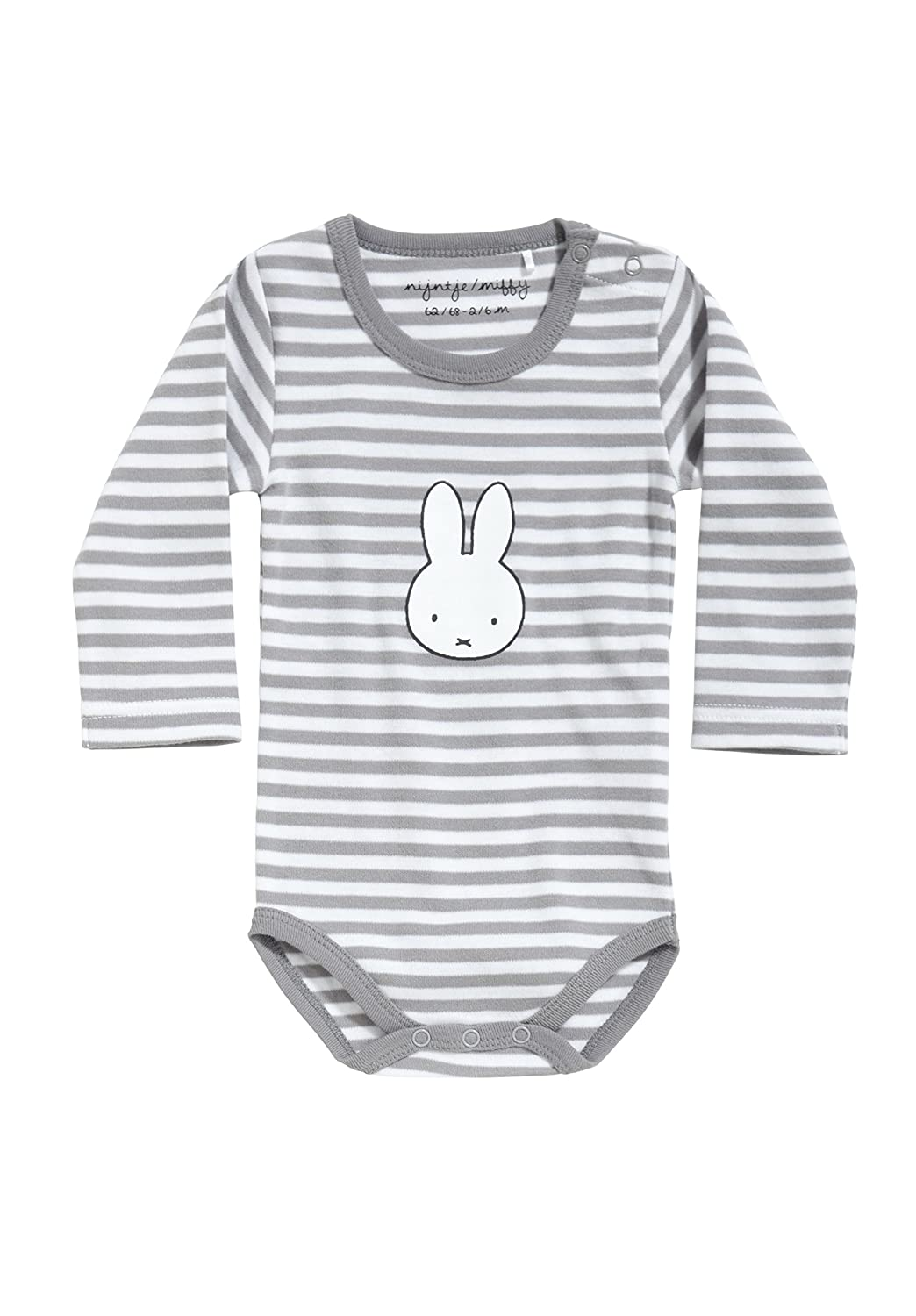 156540980853 Baby body striped, long sleeve, with miffy print, size: 74/80:  Amazon.co.uk: Baby