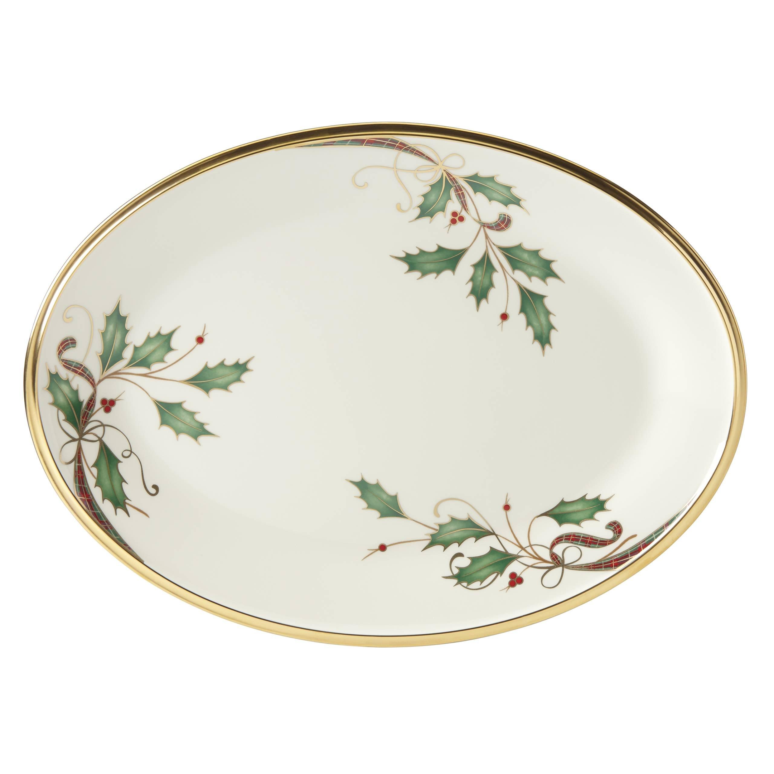 Lenox Holiday Nouveau Gold Oval Platter by Lenox (Image #1)