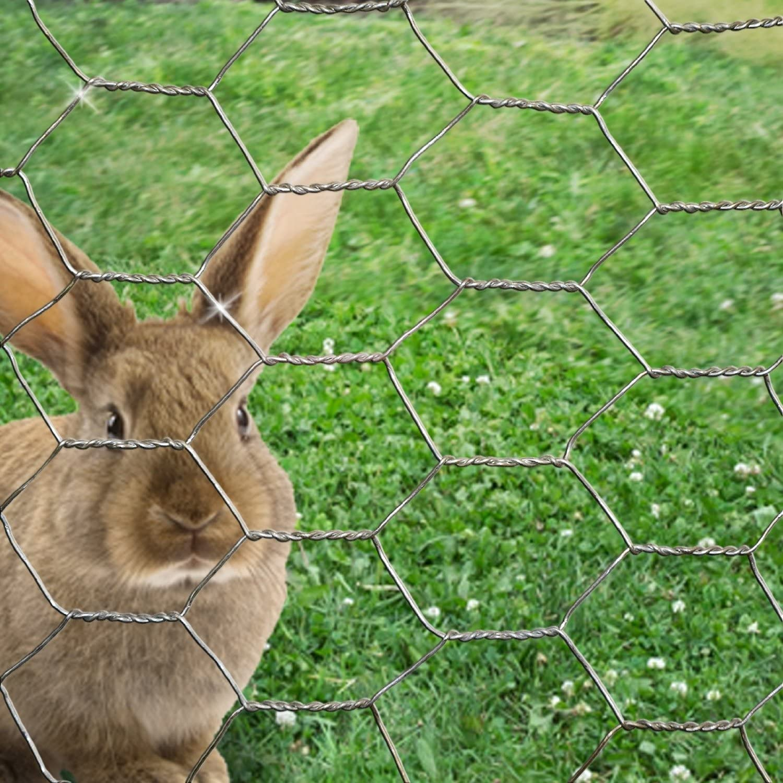 CrazyGadget/® Chicken Wire Mesh Rabbit Animal Fence Galvanised Steel Metal Garden Netting Fencing 50m 0.9m x 50m