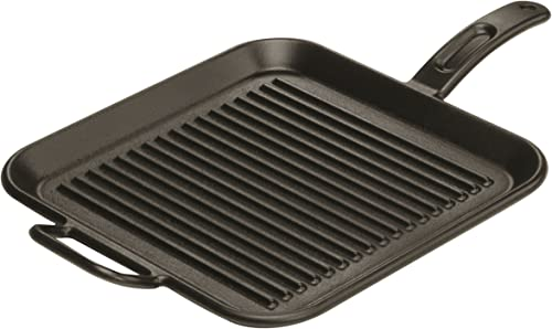 Lodge 12 Inch Square Cast Iron Grill Pan. Ribbed